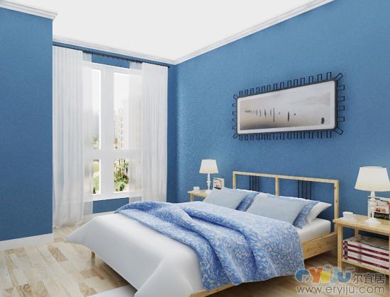 淡蓝色欧式壁纸装修