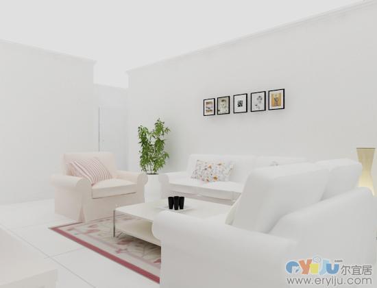 室内设计白模手工模型