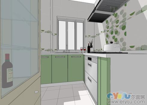 汇源豪庭-厨房设计效果图